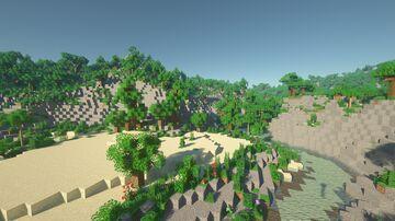 2000 x 2000 Survival Jungle Minecraft Map & Project