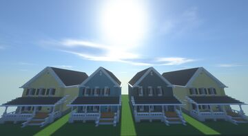 Traditional Suburban Subdivision Minecraft Map & Project