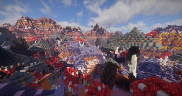 Outer Space - Alien planet with giant mushshrooms Minecraft Map & Project