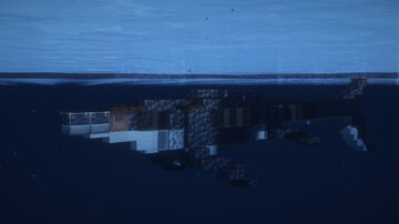 1.5:1 Scale Mosasaurus (Mosasaurus hoffmanni) Minecraft Map & Project