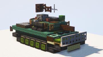 M551 Sheridan - 1.5:1 scale Minecraft Map & Project