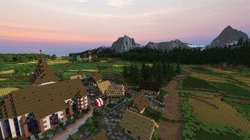 The medieval village of Clerluçon // Le village médiéval de Clercluçon [Alenvins project] Minecraft Map & Project