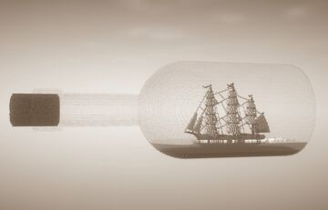Italian Barque in a bottle Minecraft Map & Project