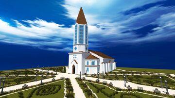 White Modern Church Minecraft Map & Project