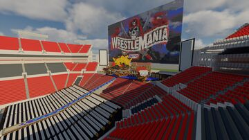 WWE WrestleMania 37 (concept) With Pyro Minecraft Map & Project