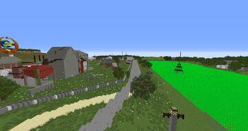 """Soviet industrial area """"Sovhoz - Zarya""""  """"Jointfarm - Zarya"""" Minecraft Map & Project"""