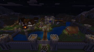 Minecraft Exploded Builds: Medieval Fortress Recreation Minecraft Map & Project