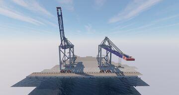 Autonomous Container Gantry Cranes Minecraft Map & Project