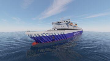 Blue Galaxy Car Ferry Minecraft Map & Project