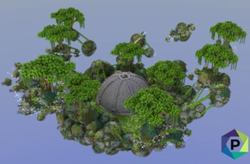 Alien Terrain Floating Hub   1.8+ Minecraft Map & Project