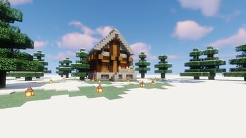 Snowchester Inspired Cabin Minecraft Map & Project