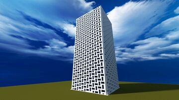 Modern Blue Tower Minecraft Map & Project