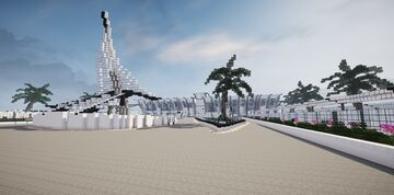 Railway station St. Nora Connolly   Interiors / Clean desing / Scifi and Future style Minecraft Map & Project