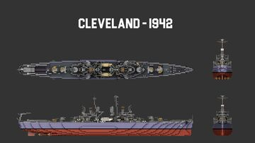 USS Cleveland (1942 and 1945) 1:1 Scale Minecraft Map & Project