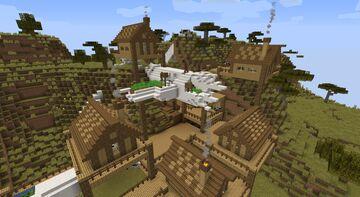 Crashed plane village Minecraft Map & Project