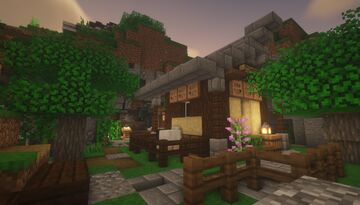 Wool - Shepherd Cave Shop Build Idea - [Japanese Theme] Minecraft Map & Project