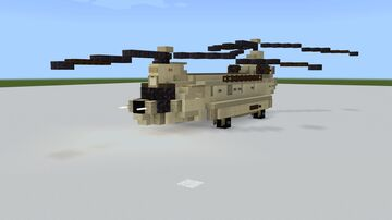 CH-47 Chinook  1.5:1 Minecraft Map & Project