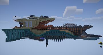 Another fantasy airship Minecraft Map & Project