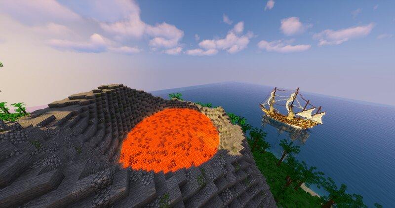Volcano  Pirate Ship
