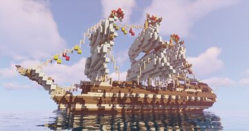 1st Rate Ship of the Line Minecraft Map & Project
