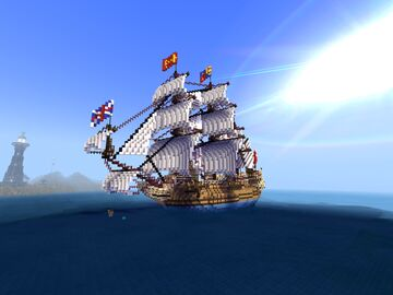 HMS ROYAL CHARLES 1655 Minecraft Map & Project