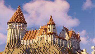 more castle progress Minecraft Map & Project
