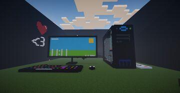 BilGisayarlar Vadisi - Komutlarla çalışan bilgisayar. Minecraft Map & Project
