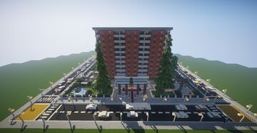 Minecraft Modern Hotel (map download & full decorated) 🏨💯 Minecraft Map & Project