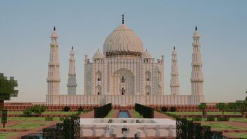 The Taj Mahal, India built on 1:1 scale (BTE) Minecraft Map & Project