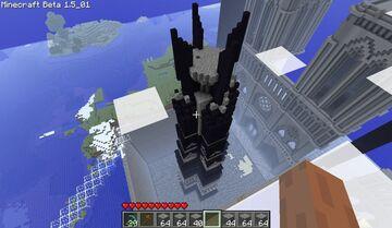 LotR Orthanc & Notre-Dame de Paris Minecraft Map & Project