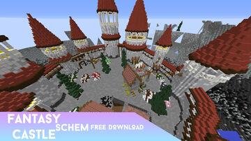 Greek Fantasy Castle Schematic | Includes nice landscape | Big schematic | Huge castle Minecraft Map & Project
