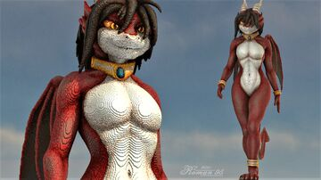 Anthro Dragoness [ ll ] Minecraft Map & Project