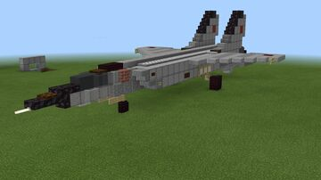 1.5:1 scale MiG-25 Foxbat Minecraft Map & Project