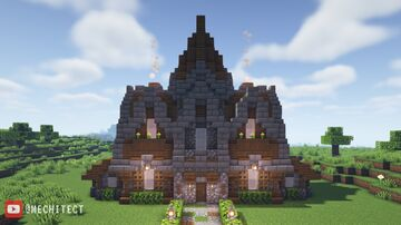 Medieval Townhall Design! Minecraft Map & Project