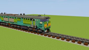 2TЭ10M Diesel-Electric Locomotive Minecraft Map & Project
