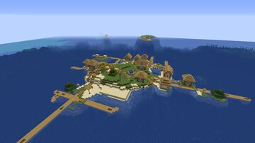 Lonely Villager Island Seed 1.16.5 Minecraft Map & Project