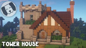 Tower  House Tutorial Minecraft Map & Project