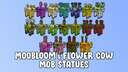 Moobloom & Flower Cow Mob Statues Minecraft Map & Project