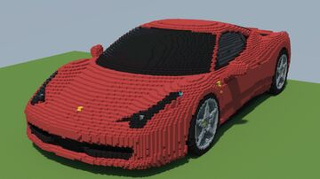 Ferrari 458 Italia [50:1 Scale] Minecraft Map & Project