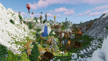 Medieval Mountain Village/City Minecraft Map & Project