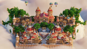 🟥 SPAWN RED CITY 🏰 Minecraft Map & Project