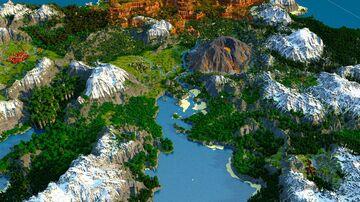 🌟Jaratorm - Volcano, new 1.18 Caves, peakier mountains [play.mcmeddon.com] (Download, 4k, 1.17+,Java & Bedrock, Multibiome Minecraft Survival World) Minecraft Map & Project