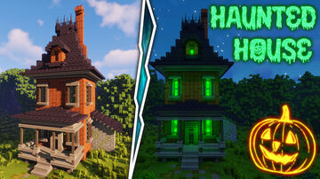Haunted house halloween Minecraft Map & Project