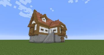 BDoubleO inspired Tudor Home / Store Minecraft Map & Project