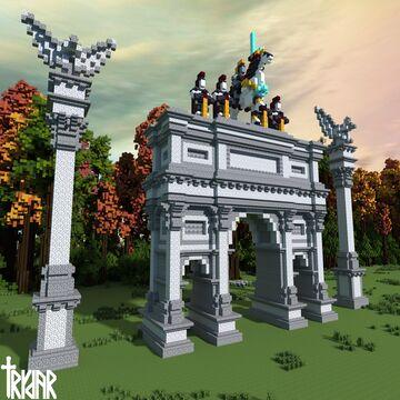 Roman Triumphal Arch +tutorial Minecraft Map & Project
