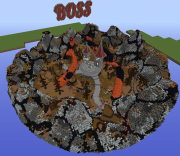 DARK ARENA / BOSS AREA + DOWNLOAD MAP AND SCHEMATIC Minecraft Map & Project