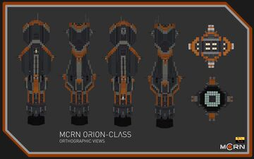 Orion-Class Heavy Frigate || The Expanse Full Interior (1:1) Build Minecraft Map & Project