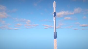 1.5:1 Scale SpaceX Falcon 9 Block 5 Minecraft Map & Project
