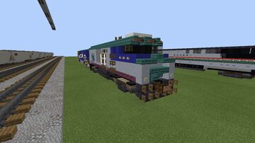 Amtrak NPCU Ex-F40PH Number 90229 Minecraft Map & Project