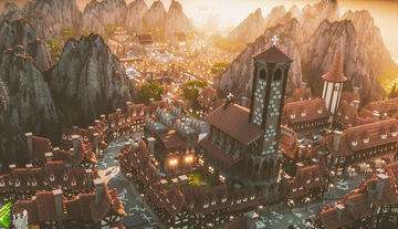 Myst City - 1000x1000 Mining Map for a Minecraft Server with 3 Districts Minecraft Map & Project